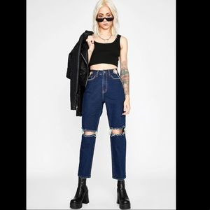 Dolls Kill Punk Actions Chained Jeans